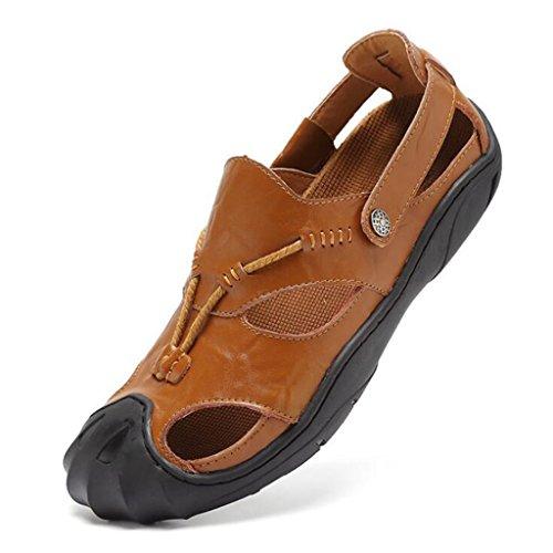 Sandali Casual Sandali Brown KAI Uomo da Shoes LE Leather Baotou LE Shoes Outdoor pCUxw6AqE