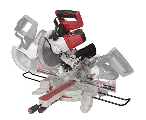 Lumberjack SCMS254DB 10' Double Bevel Mitre Saw, 2000 W, 230 V