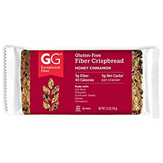 GG Scandinavian Fiber Crispbread, Honey Cinnamon, Gluten-Free, 15 Count
