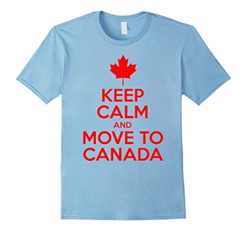 [Men's Keep Calm and move to Canada Large Baby Blue] (Father And Daughter Halloween Costume Ideas)