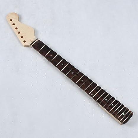 douself Reemplazo de arce Cuello Diapasón de Palisandro 22 trastes para ST Strat guitarra eléctrica: Amazon.es: Instrumentos musicales