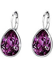 Xuping Gorgeous Fashion Crystals from Swarovski Huggies Hoop Earrings Women Girl Party Jewellery Mom