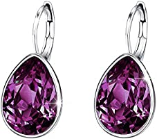 Xuping Sparkle Jewelry Halloween Hot Beauty Elegant Water Drop Crystals from Swarovski Luxury Decorate Hoop Earrings...