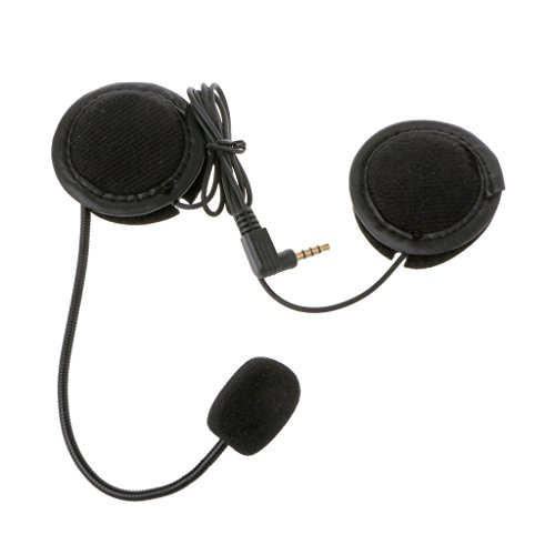 Forgun Microphone Speaker Soft Accessory for Motorcycle Intercom Work with 3.5mm-Plug
