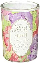 Secret Jewels April Birthstone 6 Oz. Candle Jar, Sweet Pea Scent, Diamond