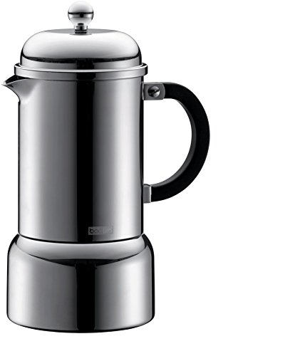 Bodum Chambord 12-Ounce Stainless-Steel Stovetop Espresso Maker by Bodum