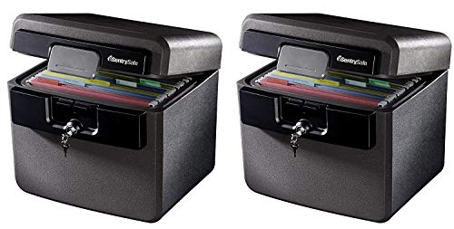 SentrySafe HD4100 Fireproof Safe and Waterproof Safe with Key Lock 0.65 Cubic Feet (Pack of 2)