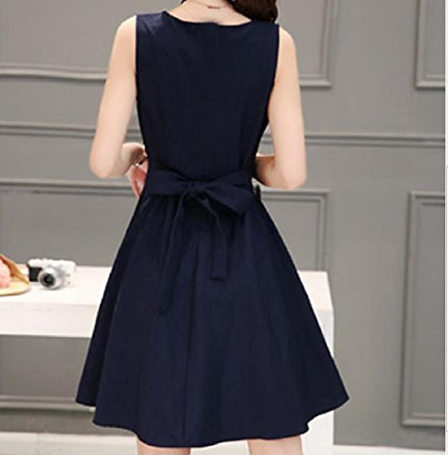 Party Skinny Summer Blue Cocktail Stylish Dress A Navy Womens Sleeveless Line qXF0xvX5w