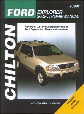 Ford explorer mercury mountaineer 2002 through 2003 chiltons ford explorer mercury mountaineer 2002 through 2003 chiltons total car care repair manual robert maddox 9781563925337 amazon books fandeluxe Images