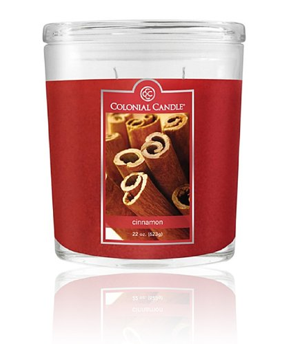 Colonial Candle Cinnamon Oval Jar Candle 22 Oz.