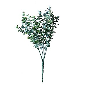 Iusun Artificial Flower Eucalyptus Floral Bridal Wedding Bouquet Party Festival Holiday Hanging Green Plant Vase Potted Decorations Gift Hot Ornament (Green) 115