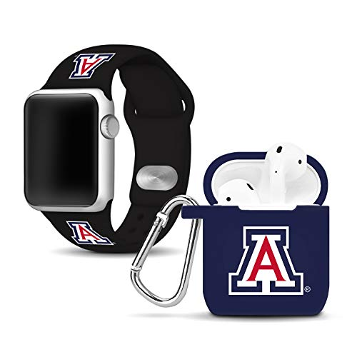 - Affinity Bands Arizona Wildcats Silicone Watch Band Case Cover Combo Compatible Apple Watch AirPod Case