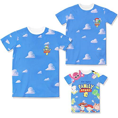 Toy Story 4 Family T-Shirts Blue Sky & Cloud Original Cartoon Logo Design Father Mother Kids Tshirts