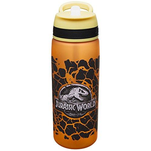 Zak Designs JURD-S831 Jurassic World 2, T Rex, Reusable Plastic Water Bottle, 25 Ounce Multicolored