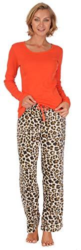 Body Candy Loungewear Long Set (Orange Leopard, Large)