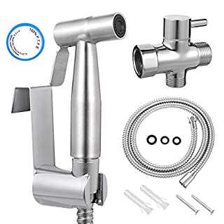 Auxsoul Cloth Diaper Sprayer Kit for Toilet Stainless Steel Bidet Sprayer with Adjustable Pressure Control for Bathing Pets, Personal Hygiene