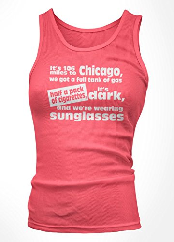 Bathroom Wall Blues Brothers It's 106 Miles To Chicago Inspired, Vest Top, Small, - Blues Brothers Miles 106