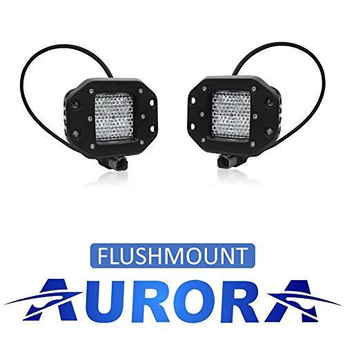 Aurora - 3 Inch Off Road LED Flush Mount Light - 3,880 Lumens - 40w - w/Diffusion Beam