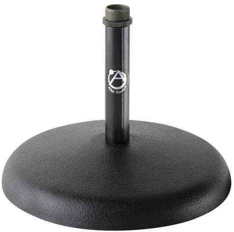 Atlas DS5E 5-Inch Fixed Height Desktop Microphone Stand, Ebony Finish