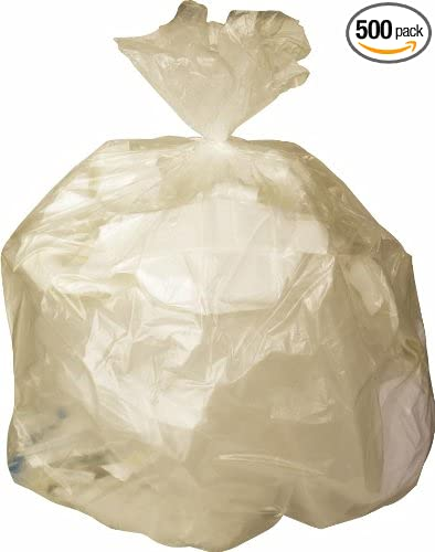 Latex Free 30 Gallon Size Clear 37 Length x 30 Width Pack of 500 Medline NONHCR3710C High Density Clear Liners