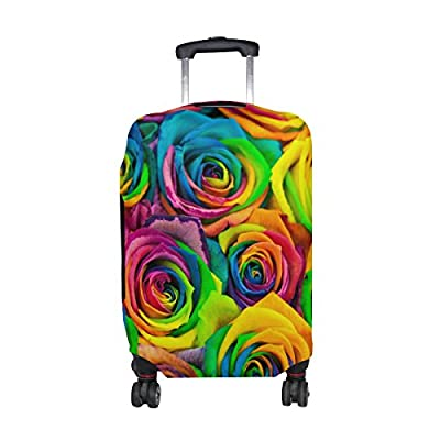 ALAZA Rose Flower Rainbow Polyester Luggage Travel Suitcase Cover Protector  hot sale 2017 061166d8e2bbe