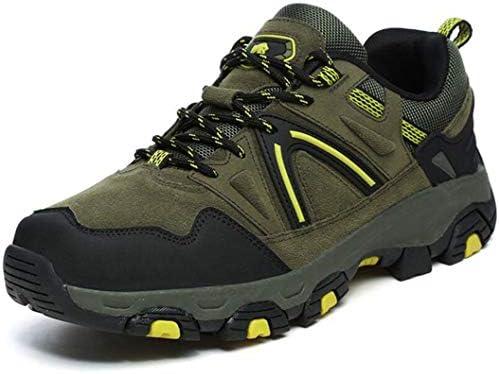 男性と女性のハイキングシューズアウトドアハイキングブーツ防水ウォーキングシューズ登山トレッキングクロスカントリーランニングシューズ (Color : Army green, Size : 39)