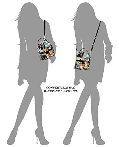 Fashion Obama Collage Backpack Black 1 Backpack Cover Magazine multi Handbag Glossy Michelle 1wC0nT