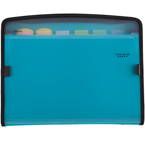 Five Star Expanding File, 7-Pocket Expandable Folder, Zipper Closure, Customizable, Teal (72506)