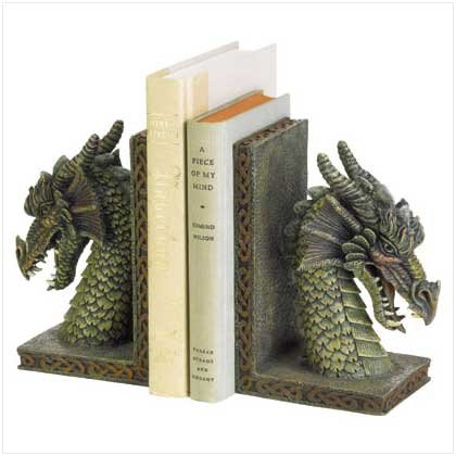 Dragon Bookends Modern Contemporary Read Books Resin Decorative Home Office  Set Antique Unique Bookends