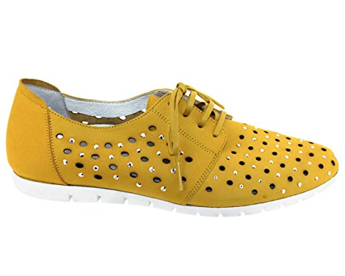 de Sabrinas Piel de Zapatos Vuelta Mujer Cordones UUCwgtq
