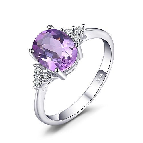 JewelryPalace Classic Oval 2.6ct Created Alexandrite Sapphire Anniversary...