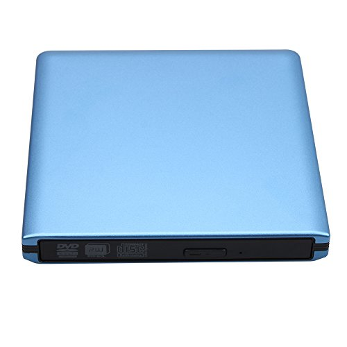 DLPIN USB 3.0 Ultra Portable External CD DVD RW DVD ROM Drive/Writer/Burner for Laptops, Desktops, Notebooks Mac, Macbook Pro Air iMAC (Blue) by DLPIN (Image #2)