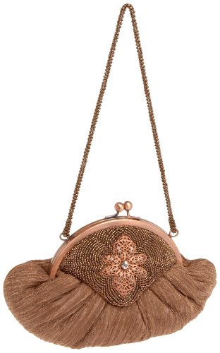 Pouch Bag Evening Metallic (inge Christopher St. Barts Pouch,Copper,one size)
