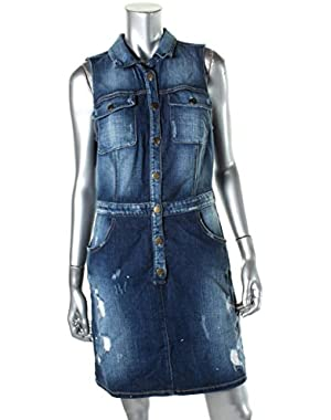 Guess Women's Distressed Denim Dress
