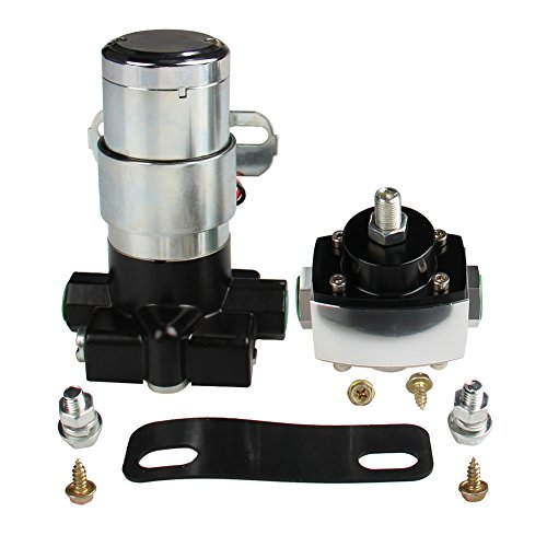 3/8' Fuel Hose (CarBole 105 GPH Universal High Performance Electric Fuel Pump With Pressure Regulator Self-priming 3/8'' NPT Inlet and Outlet 12v 7-14 P.S.I. 2-Wire)