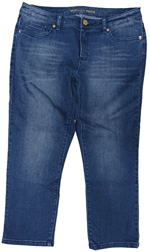 Michael Kors Womens Basics Denim Capri Jeans Medium Blue Indigo Wash, - Kors Michael Junior