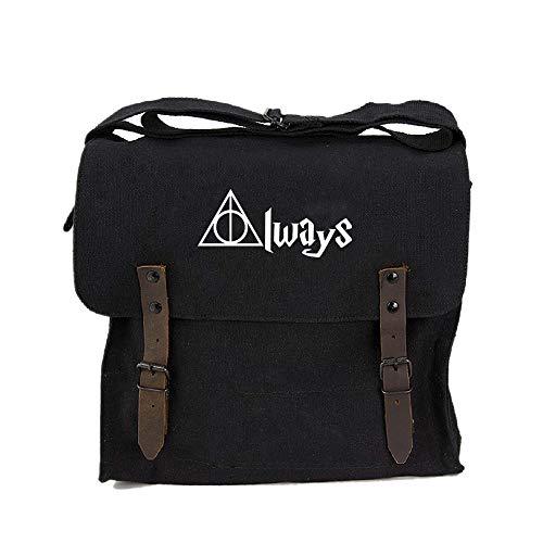 Always Harry Potter Decal Heavyweight Canvas Medic Shoulder Bag, Black & White ()