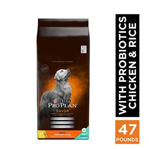 Purina Pro Plan With Probiotics Dry Dog Food, SAVOR Shredded Blend Chicken & Rice Formula - 47 lb. Bag