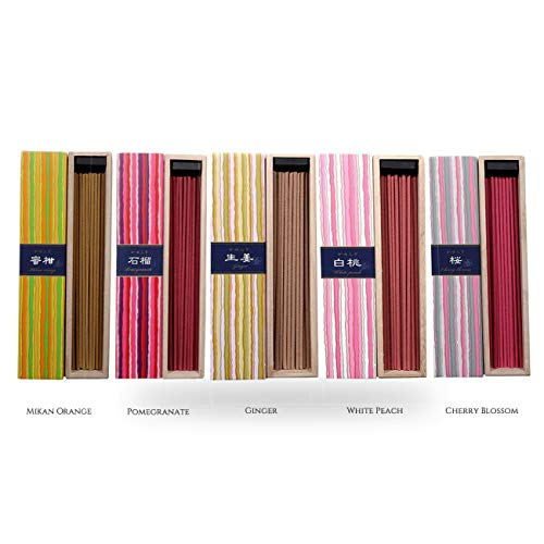 iTakara Nippon Kodo Kayuragi Incense Collection | The Garden of Japan Bundle 40x5 | Floral and Aromatic Wood Scents for Relaxation, Meditation, Prayer, Reading, Yoga | Clean Burning, Pure Scent
