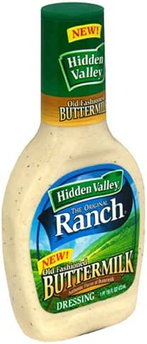 Hidden Valley Buttermilk Ranch Salad Dressing & Topping, Gluten Free - 16 Ounce Bottle - Pack of 6