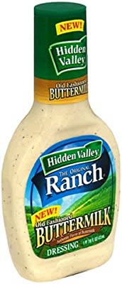 Hidden Valley Buttermilk Ranch Salad Dressing & Topping, Gluten Free - 16 Ounce Bottle - Pack of 6