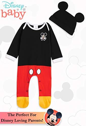 Disney Tutina Neonato di Topolino, Tutine Mickey Mouse da 0 a 24 Mesi, Pigiama Intero Bambina con Cappello, Pagliaccetto… 6