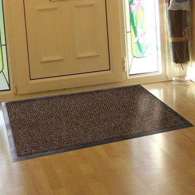 Superior Entrance Door Barrier Mat Heavy Duty Contract Brown Black 0.66m X 1.2m  (2ft3 X