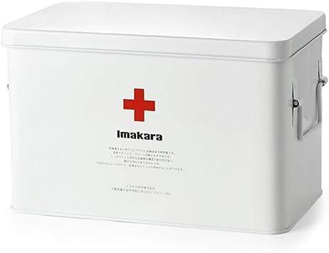 YXYXX Impermeable Portátil Botiquín de Primeros Auxilios,Multifuncional Metal Caja de almacenamiento médico,la Escuela Familia Viajar/Blanco / 220 x 167 x 160 mm: Amazon.es: Bricolaje y herramientas