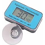 Domire - Thermomètre numérique avec écran LCD pour aquarium/vivarium - De -50°C à 110°C, bleu
