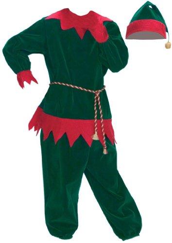 Halco Boys' Santa Helper Two Piece Velvet Elf Suit 4-8 Green (Velvet Elf Suit Costume)