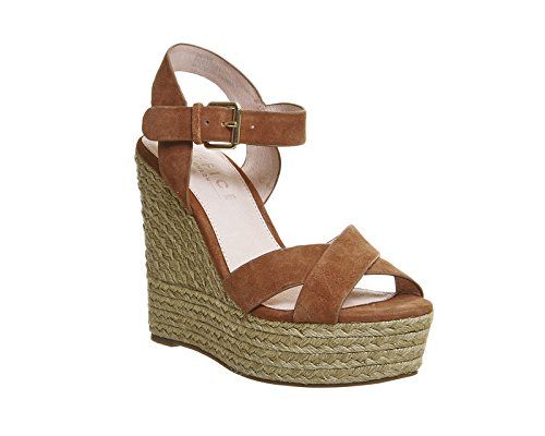Unbekannt - Zapatos de vestir para mujer Braun - Tan Suede