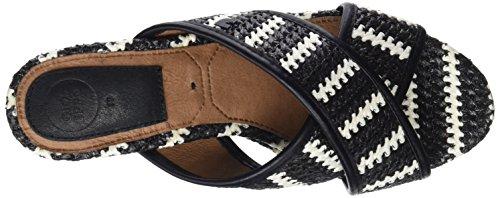 para Gioseppo Abierta Tacón Punta de Black Mujer con 44371 Zapatos Negro Hxrq60FrY