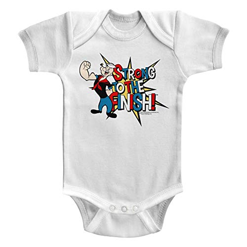DressCode Popeye - Unisex-Baby Strong! Onesie, Size: 12M, Color: White -