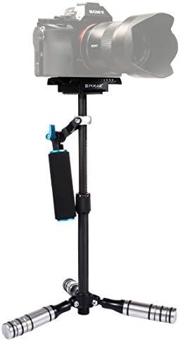 GzPuluz カメラサポート スタビライザー アクセサリー P40T DSLR&DVデジタルビデオカメラ用炭素繊維ハンドヘルド